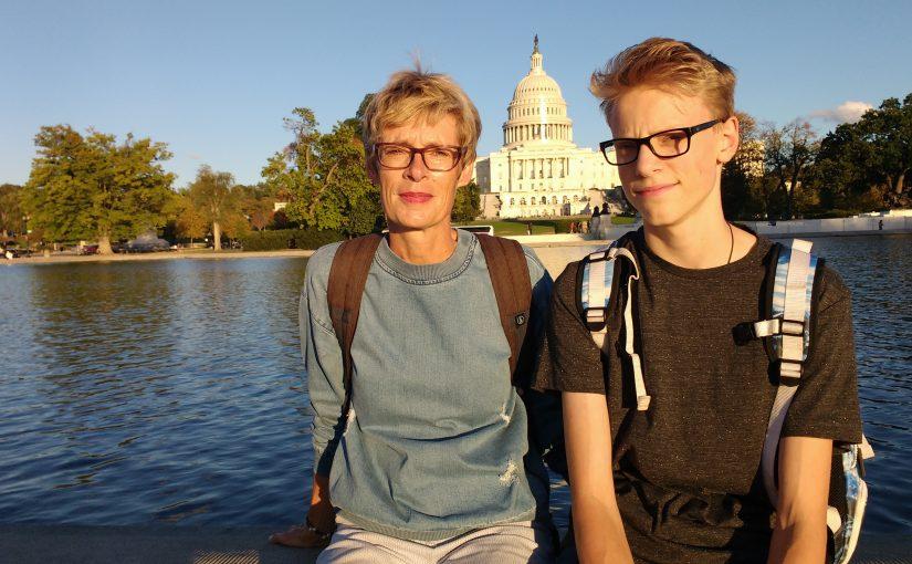 Touristen in Washington D.C.