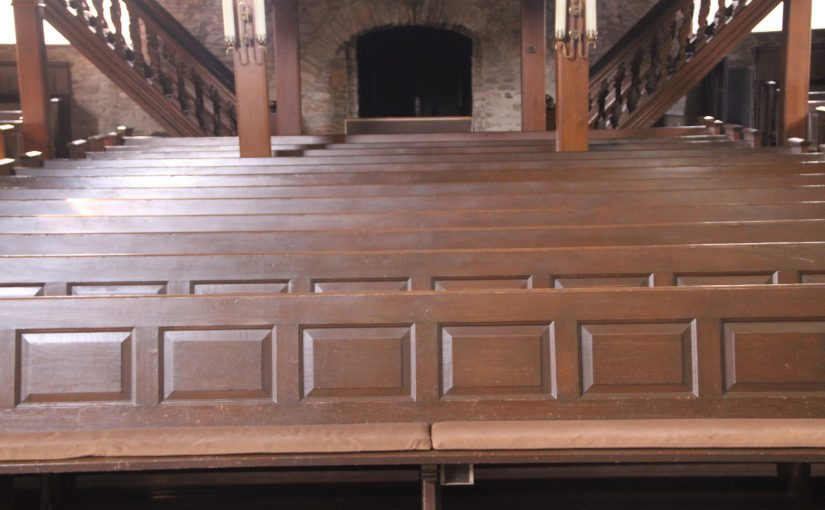 """Fixed pews are an invention of the devil"""